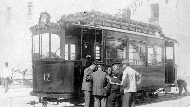 Vagón número doce, el primer tranvía que recorrió la ciudad desde el año 1906 al 1952.
